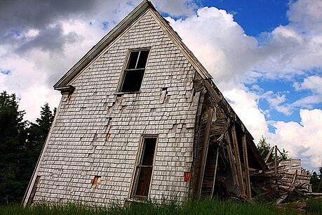 Collapsing House by Martin Cathrae, on Flickr