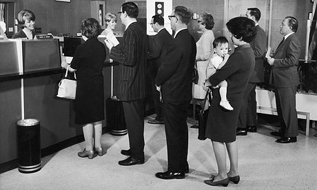 Queuing at the bank?