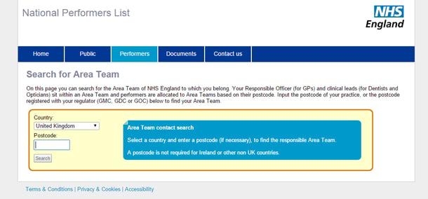NHS National performers list